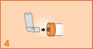 AeroChamber Plus Flow-Vu Anwendung für Kinder - Schritt 4