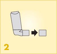 AeroChamber Plus Flow-Vu mit Kindermaske - Anwendung Schritt 2