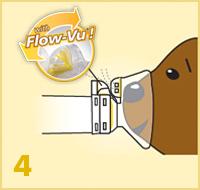 AeroChamber Plus Flow-Vu mit Kindermaske - Anwendung Schritt 4
