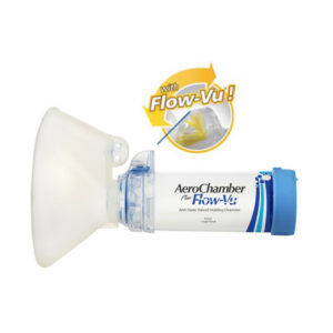 AeroChamber Plus Flow-Vu Maske für Erwachsene (BLAU)