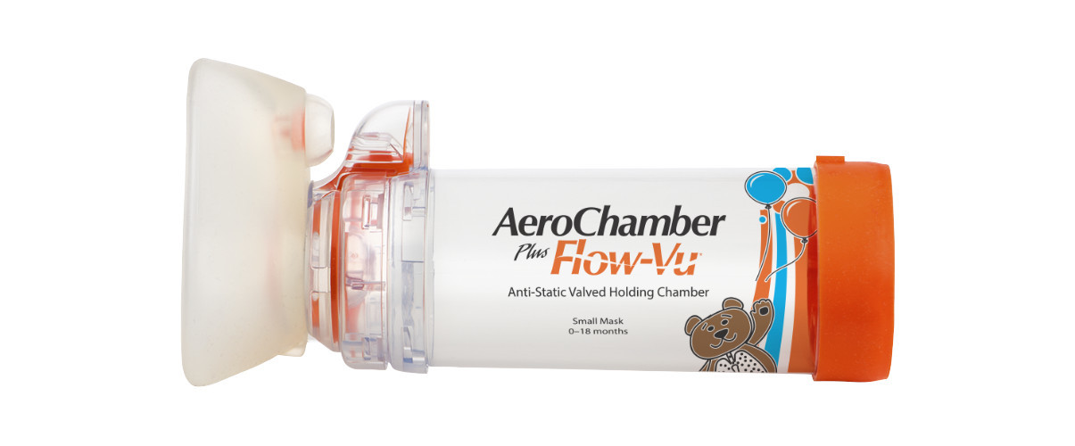 AeroChamber PLUS FlowVu Orange fuer Saeuglinge