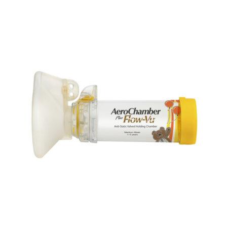 AeroChamber Plus Flow-Vu mit Kindermaske (GELB)