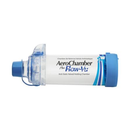 AeroChamber Plus Flow-Vu mit Mundstück für Erwachsene - (BLAU)