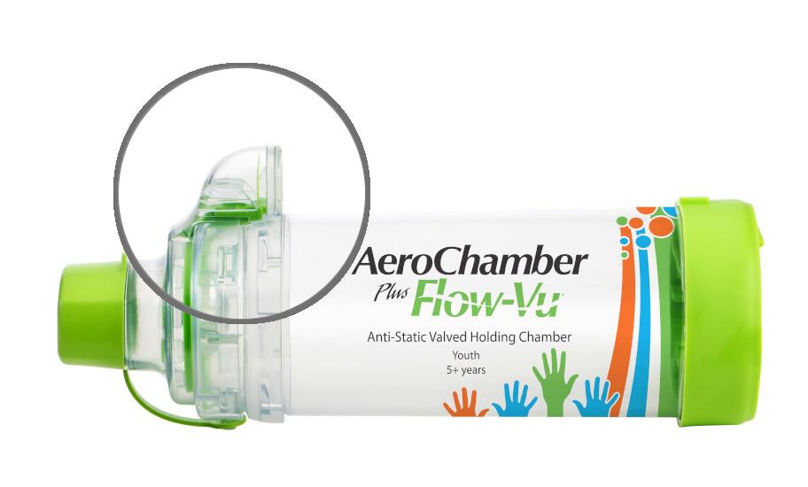 AeroChamber Plus Flow-Vu mit Mundstück - KIDZ - (GRÜN)