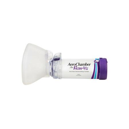 AeroChamber Plus Flow-Vu Maske für Erwachsene (VIOLETT) - ab 5 Jahren
