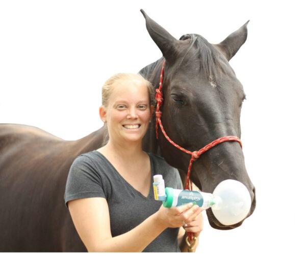 AeroHippus* für Pferden - Anwendungsbeispiel